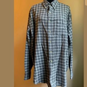 Men's L.L.Bean Plaid Long Sleeve Button-Front XL